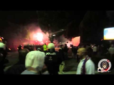 Clashes after match Austria Salzburg - Sturm Graz 23.09.2014 (HD)