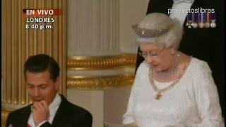 Peña Nieto hace el Ridículo ante Reina Isabel II en Londres