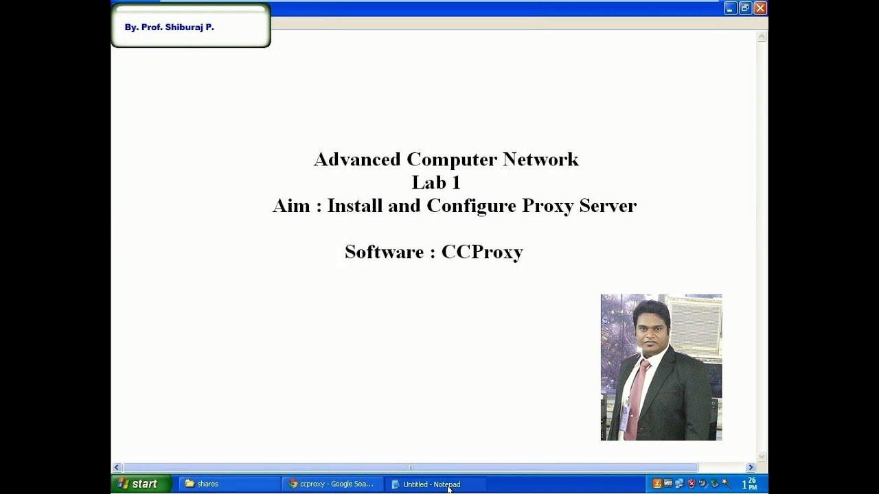 How to Setup a Proxy Server using CCProxy
