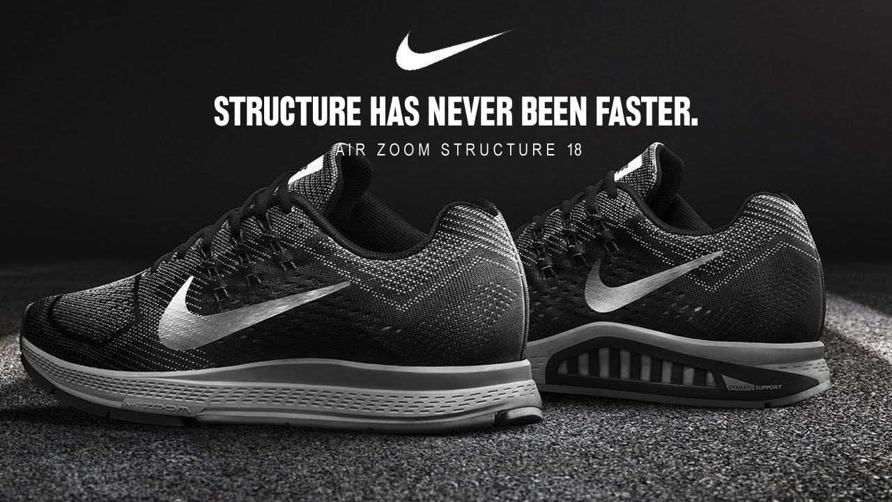 best authentic 4d2f3 fd21b ... BLACKWHITEVOLT Nike Air Zoom Structure 18 - YouTube Nike Mens ...