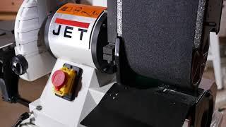 Обзор Станок шлифовальный тарельчато-ленточный JET JSG-96 708595M