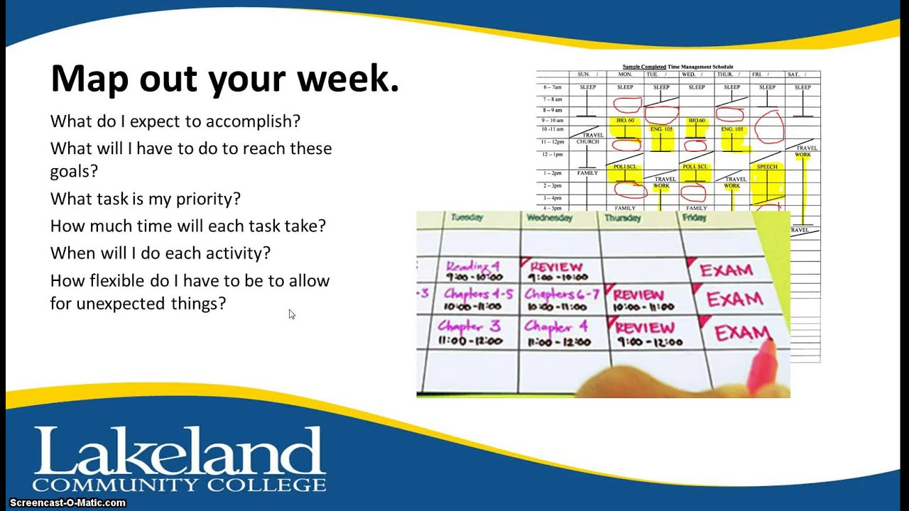 time management strategies and tools for weekly and daily planning