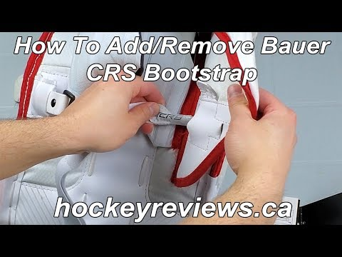 How To Install Or Remove Bauer Vapor 2X & Supreme 2S CRS Bootstrap Hockey Goalie Pads
