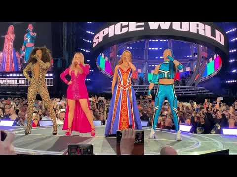 SPICEWORLD 2019 TOUR! Spice Girls - INTRO - Spice Up Your Life @ Manchester 31/05/19 letöltés