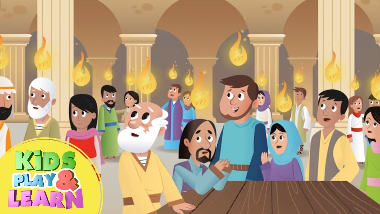 The Holy Spirit Comes Pentecost Bible For Kids Youtube border=