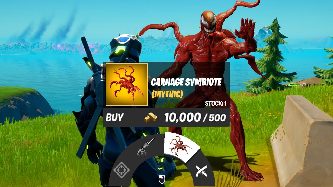NEW Boss Carnage Mythic Weapon Fortnite Update
