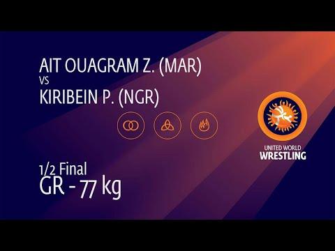 1/2 GR - 77 kg: Z. AIT OUAGRAM (MAR) v. P. KIRIBEIN (NGR)