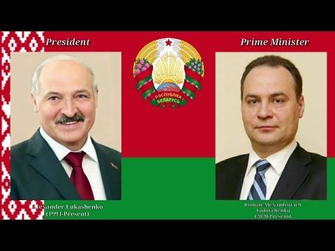 Dziaržawny himn Respubliki Bjelarusj : Leaders of The Republic of Belarus  -2021