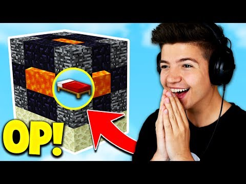 NEW OP BED DEFENSE! (Minecraft BED WARS Trolling) with Prest