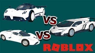 Pagani Zonda R vs Lamborghini Veneno vs Ferrari LaFerrari (Roblox)