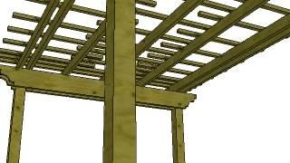 3D walkthrough of arbor design in Santa Rosa, Ca. using sketchup. Designed by Poteracke Landscape Design & Build. www.