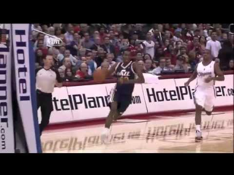 Jeremy Evans Block & Dunk on Ronny Turiaf ..Clippers vs. Jazz