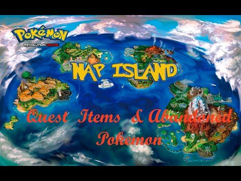 Pokemon Revolution Online NEW MAP - Nap Island!! - Quest + Items + Abandoned Pokemon