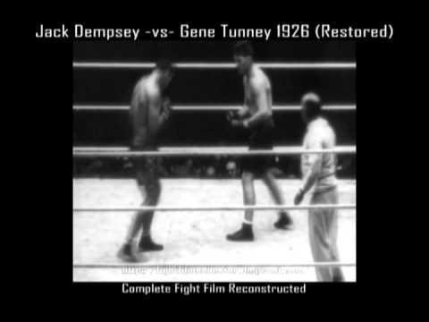 Gene Tunney -vs- Jack Dempsey I 1926 World Heavyweight Championship (Restored Full Fight))