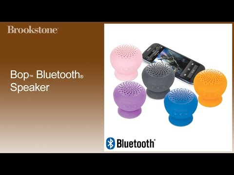 Brookstone's bop bluetooth speaker/speakerphone: unboxing and.