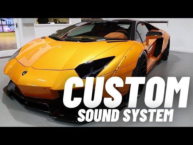 Lamborghini Aventador Liberty Walk Custom Audio System
