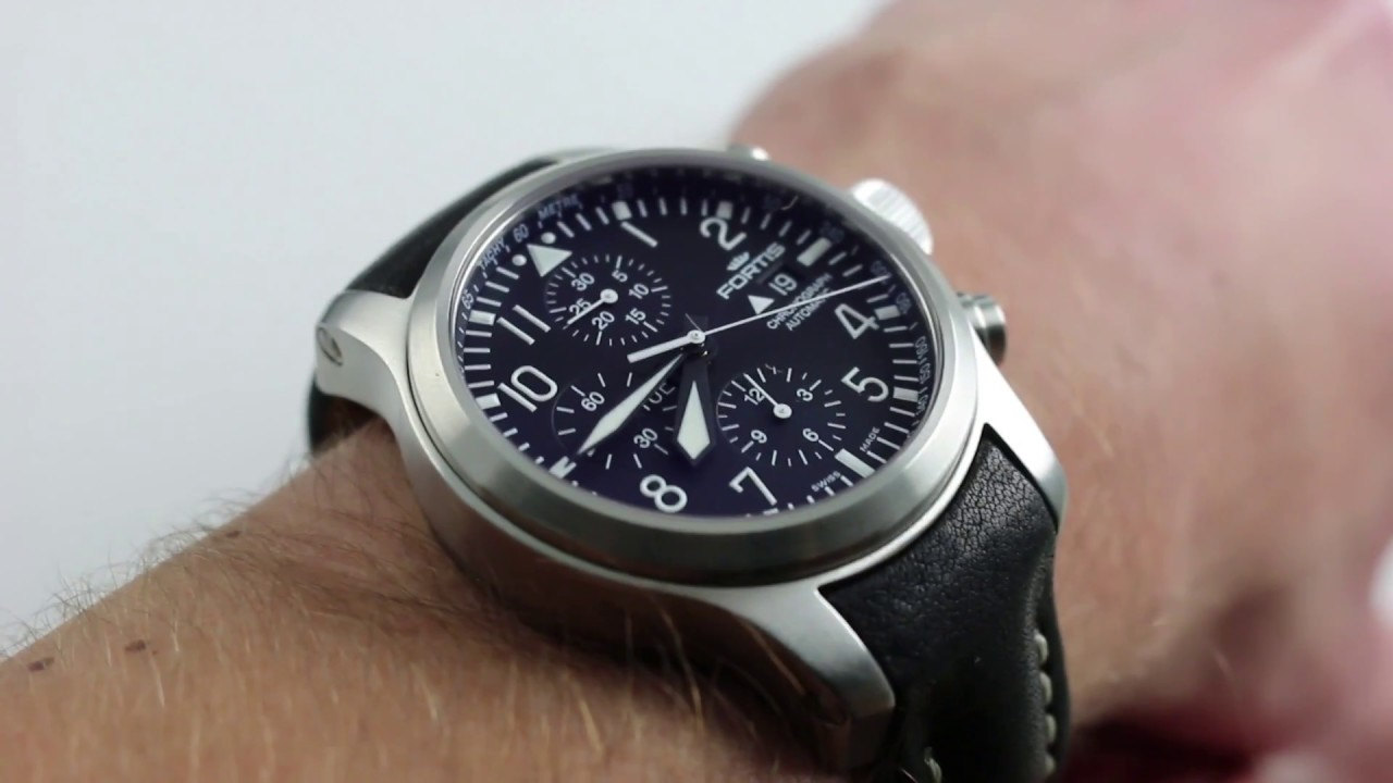 Fortis B-42 Flieger Chronograph Luxury Watch Review - YouTube