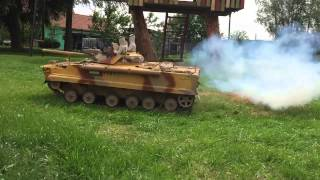 Slow motion BMP-3 in smoke action RC model 1:7  ARMY HEAVY TANK
