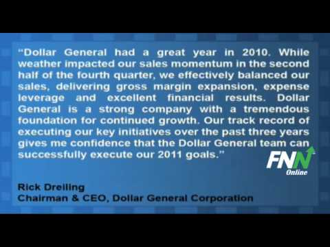 Dollar General Reports Mixed Earnings, Issues Strong 2011 Guidance (DG)
