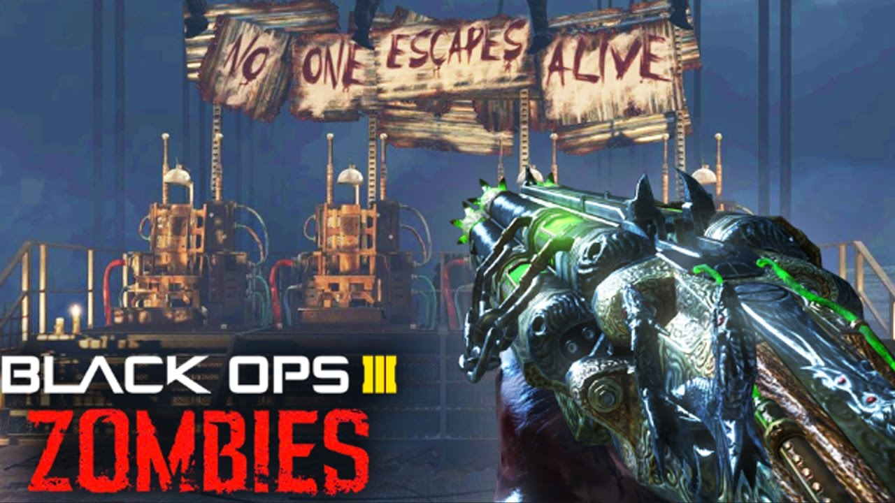 MOB OF THE DEAD IN BLACK OPS 3 ZOMBIES  EPIC BRIDGE CHALLENGE w