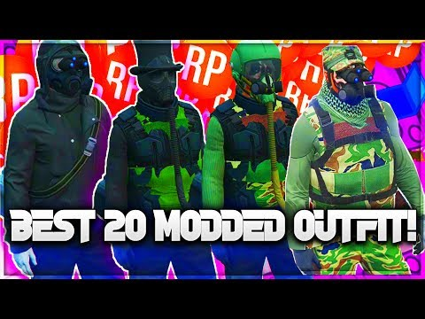 *BEST 20* MODDED OUTFIT!/OUTFIT! (GTA 5 ONLINE) USING CLOTHING GLITCHES 1.40