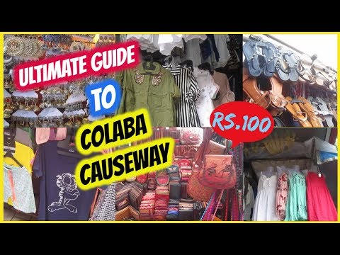 ULTIMATE GUIDE TO COLABA CAUSEWAY | 2018 LATEST TRENDS | MARKETS OF MUMBAI