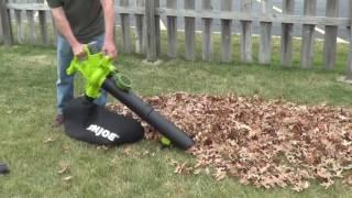 Cordless Leaf Mulcher - Sun Joe ION