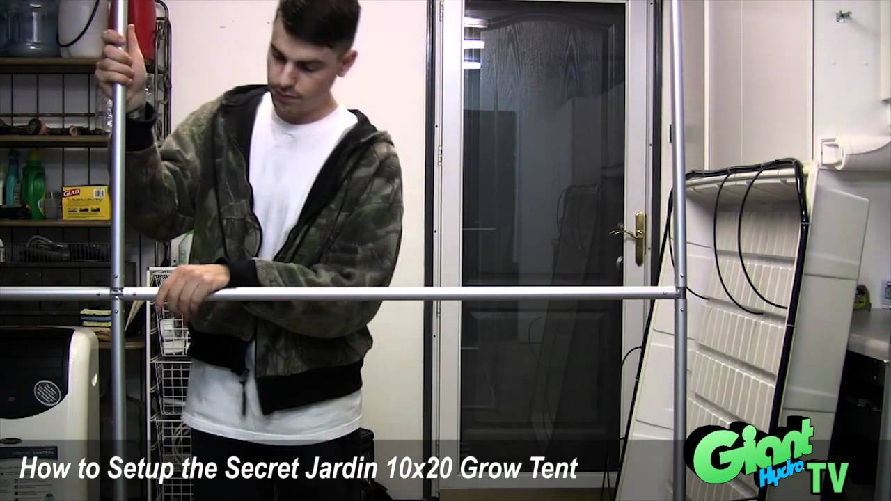 sc 1 st  YouTube & How to setup a Secret Jardin 10x20 grow tent - YouTube