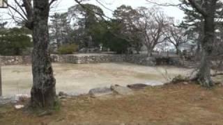 2010年1月11日、松阪城(三重県松阪市)を訪れました。天守台が残るのみ...