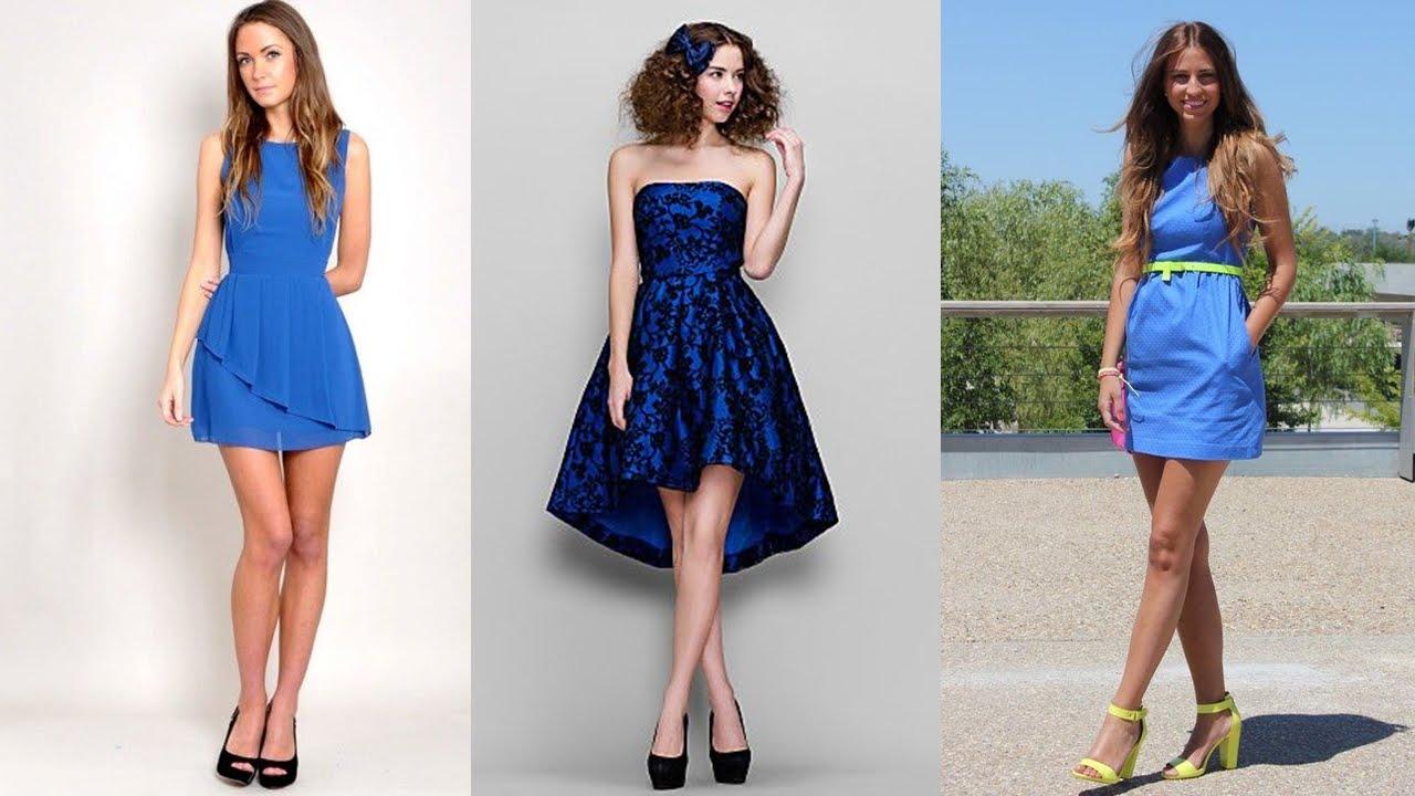 Vestidos azules de moda