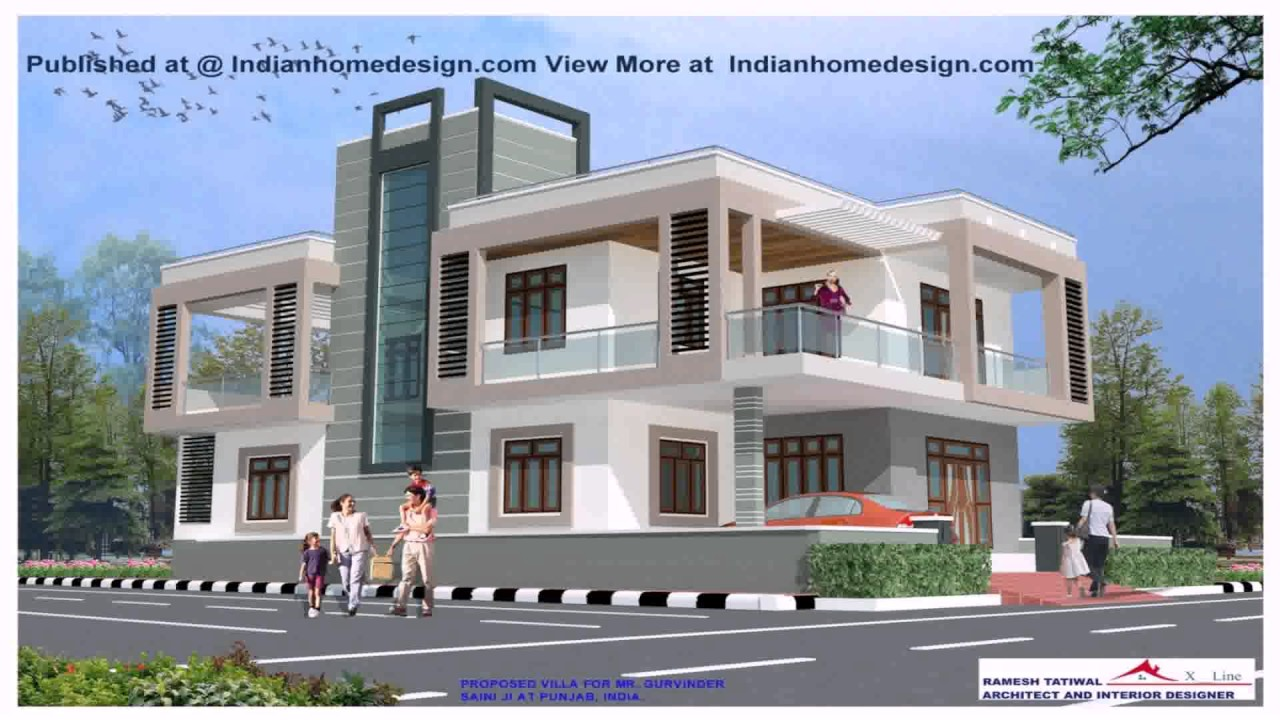 N Home Design Modern Front Elevation Ramesh : Indian home design modern front elevation ramesh