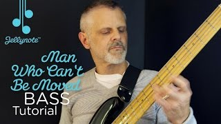 Video The Man Who Can't Be Moved by the Script - beginner bass tutorial (Jellynote Lesson) download MP3, 3GP, MP4, WEBM, AVI, FLV Agustus 2018