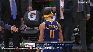 Klay Thompson 14 THREES! NEW NBA RECORD!