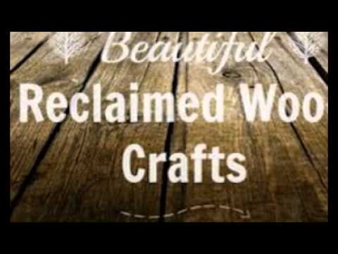 Recycled Wood Crafts - YouTube