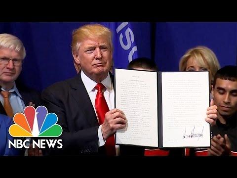 Donald Trump Signs 'Buy American, Hire American' Executive Order | NBC News