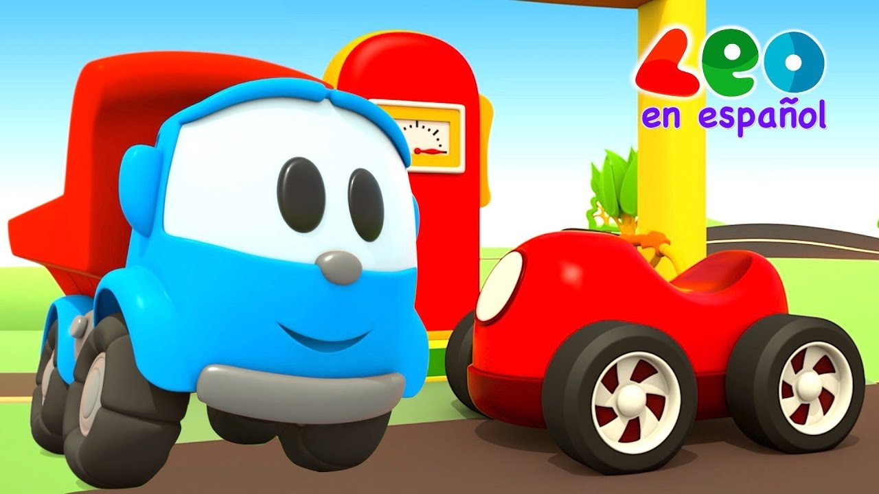 Leo el Pequeño Camión - Videos educativos infantil - Coches de carreras