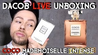 DACOB LIVE - CHANEL UNBOXING - COCO MADEMOISELLE INTENSE first impressions