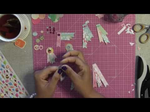 Petite DIY Embellishments for Pocket Letters - Made with Paper Pad Strips