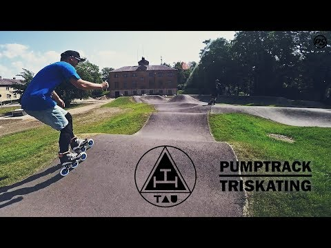Pumptrack Triskating on Tau Urban skates - Powerslide Inline Skating
