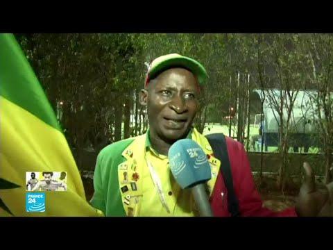 مشجعو المنتخب السنغالي على الموعد للمباراة مع الجزائر في نهائي كأس الأمم الأفريقية