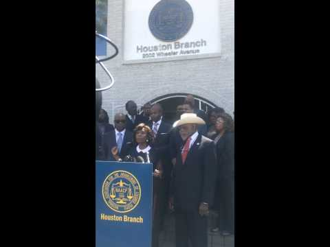 Vivian King During NAACP Houston Branch Press Conference on Police Accountability