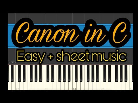 Canon in c easy piano (Synthesia) + free sheet music