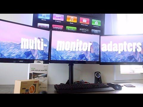 Multi-Display/Monitor Adapter - Mac  PC - YouTube - multi screen display