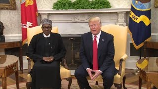 Nigeria's President Buhari meets Donald Trump in Washington