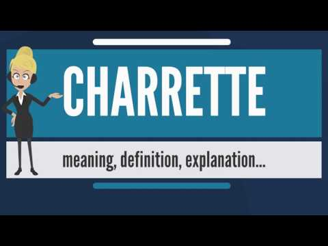 What is CHARRETTE? What does CHARRETTE mean? CHARRETTE meaning, definition & explanation