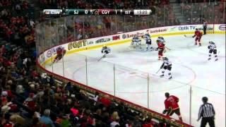 Roman Cervenka goal 1-0 Mar 6 2013 SJ Sharks vs Calgary Flames NHL Hockey
