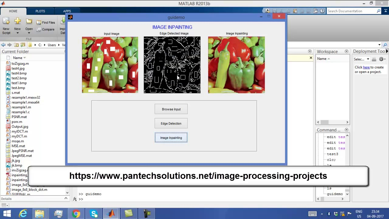 Matlab Code for Image Inpainting