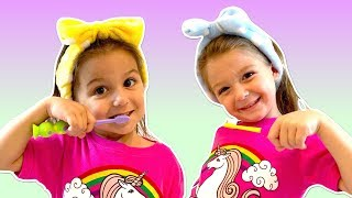 BRUSH MY TEETH SONG - Fun Songs for Children by Elya & Adelya Kids Show