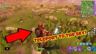 Fortnite Battle Royale Glitch (New) Teleport to the sky PS4/Xbox one 2018