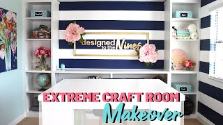 ⭐EXTREME CRAFT ROOM TOUR & MAKEOVER- How I saved THOUSANDS!